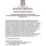 USC Graduate Assistant Position